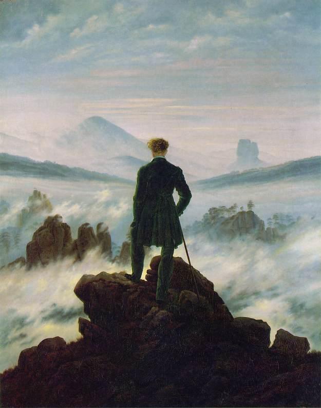 Caminante ante el mar de niebla