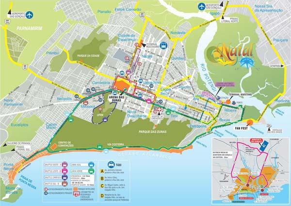 Linhas vão percorrer o entorno de Arena e viabilizar o acesso à Fan Fest, na Praia do Forte