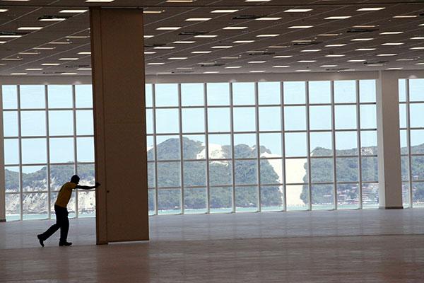 O novo pavilhão tem uma linda vista para o Morro do Careca. Obra recebeu R$ 30 milhões em recursos do Governo Federal
