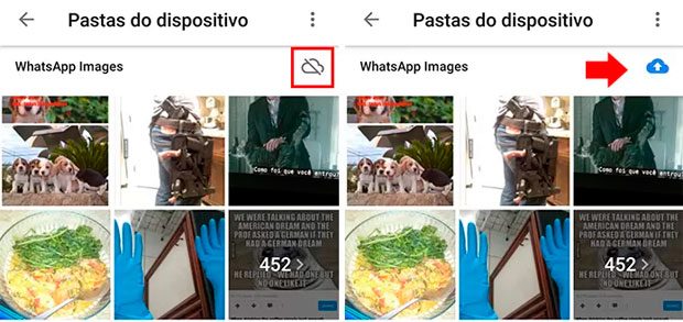 Salvar fotos do WhatsApp sem ocupar a memoria do celular