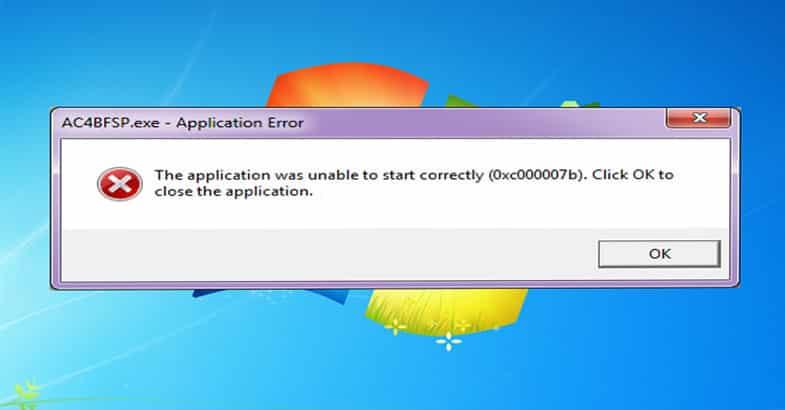 Corrigir o erro aplicativo não conseguiu iniciar (0xc000007b) 2018 1