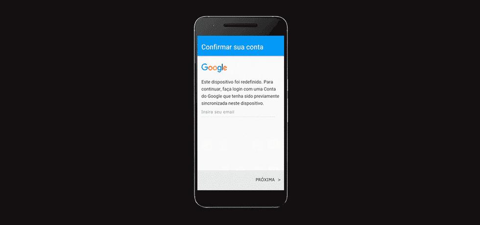 desbloquear conta sincronizada google