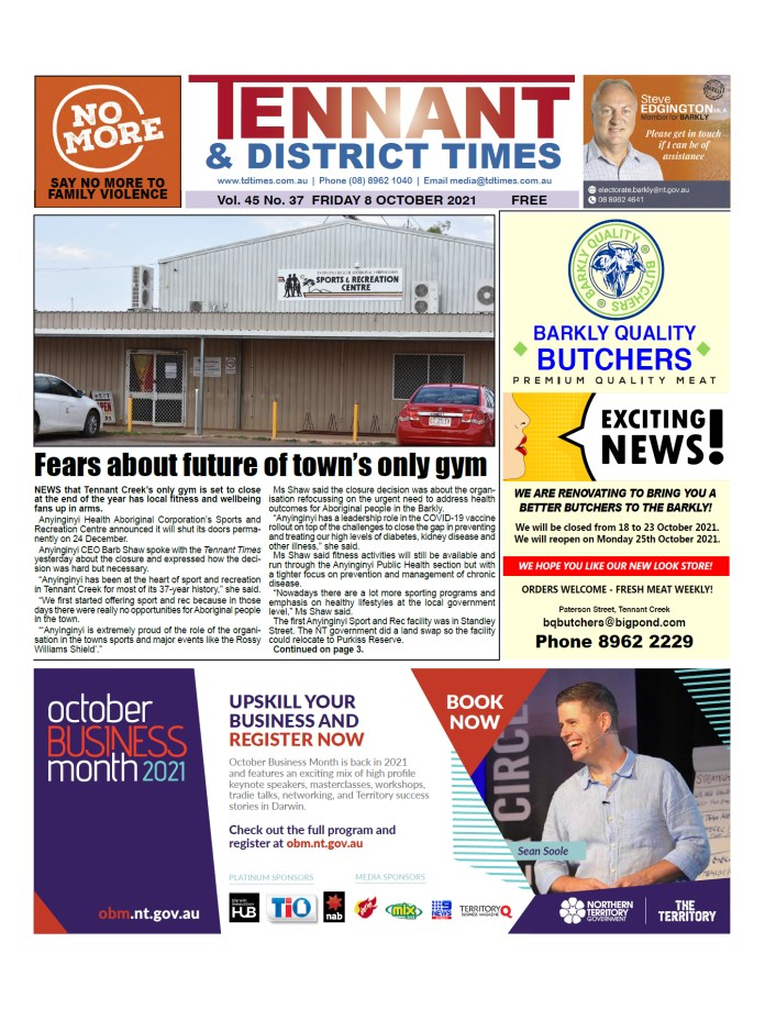 Tennant & District Times 8 October 2021