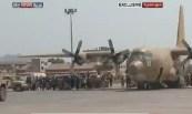 Hercules_Saudi_Mendarat_Di_Bandara_Aden