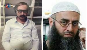 احمد الاسیر سمت راست قبل از دستگیری- سمت جپ هنگام بازداشت در فرودگاه بیروت