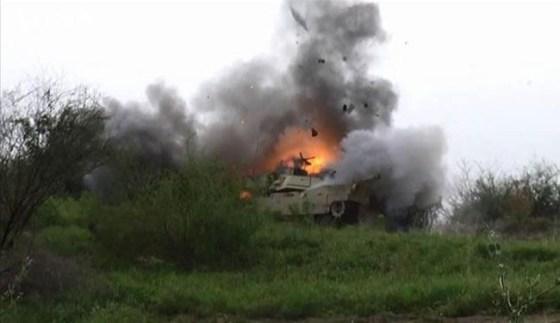 انهدام خودروهای سعودی در یمن