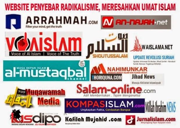 website radikal meresahkan umat Islam