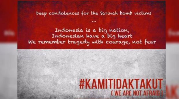 #KamiTidakTakut, We Not Afraid