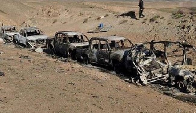 Mobil Milik ISIS yang Hancur Oleh Serangan Pasukan Irak
