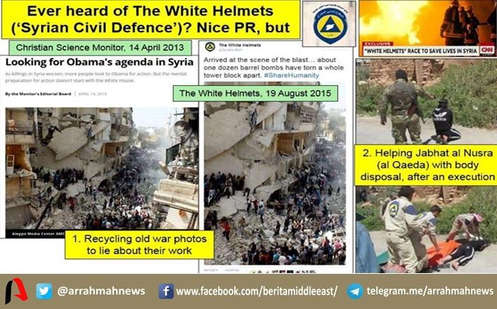 White Helmet Pembantai Warga Suriah