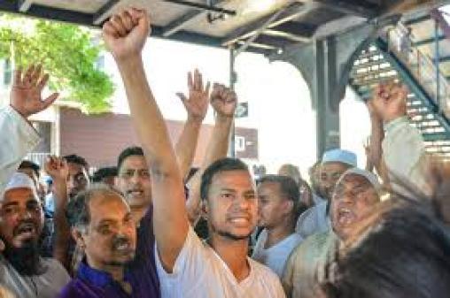 Demo_Pasca_Penembakan_Imam_Masjid_New_York