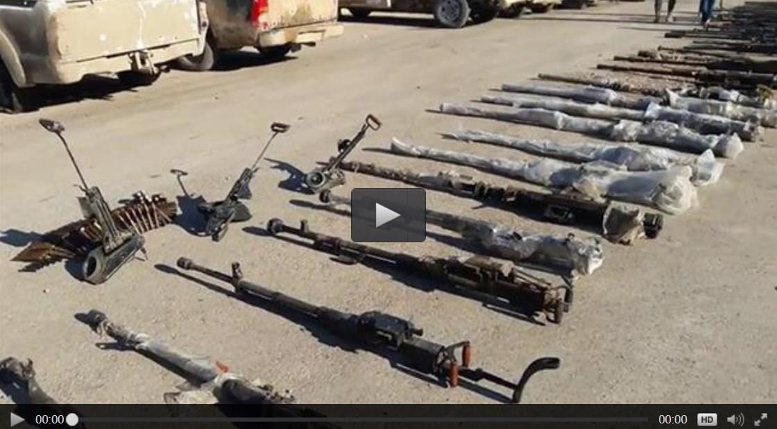 Militer Suriah Temukan Senjata Amerika dan Israel di Tempat Persembunyian ISIS