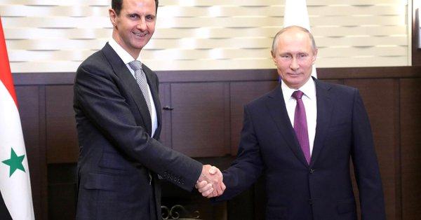 MENDADAK! Putin Kunjungi Suriah Temui Bashar Assad