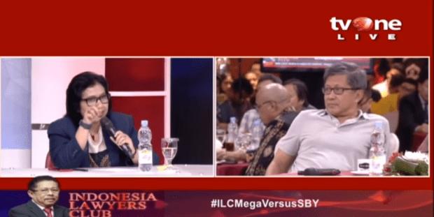 Kader Wanita Nasdem Asal Minang 'Damprat' Rocky Gerung-Fadli Zon di #ILCMegaVersusSBY
