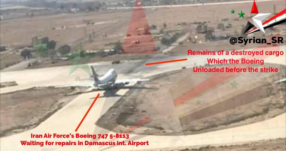 Serangan Israel Gagal Hancurkan Pesawat Iran di Damaskus