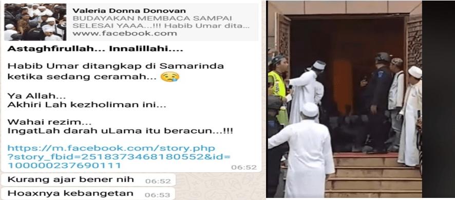 Viral, Hoax Habib Umar bin Hafidz Ditangkap Polisi