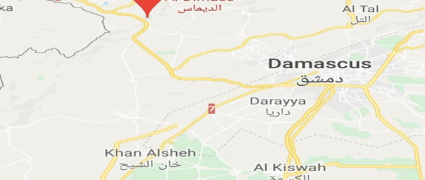 Peta Damaskus Selatan