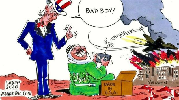 Karikatur, Perang Yaman