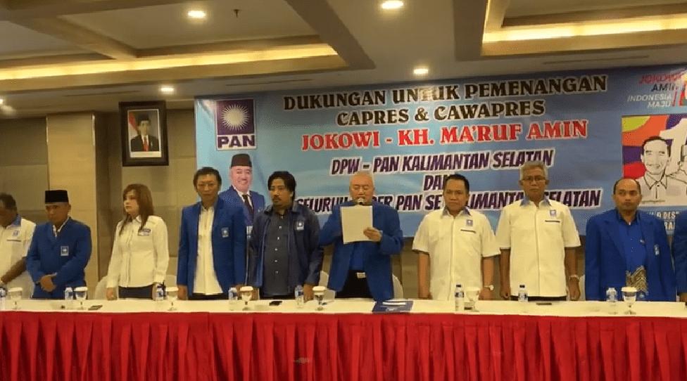 WOW, Habis Tanah Bumbu, DPW Kalsel Deklarasi Dukung Jokowi-Ma'ruf