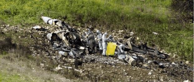 Puing jet Israel yang tertembak Suriah