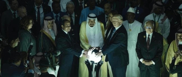 Raja Salman dan Donald Trump