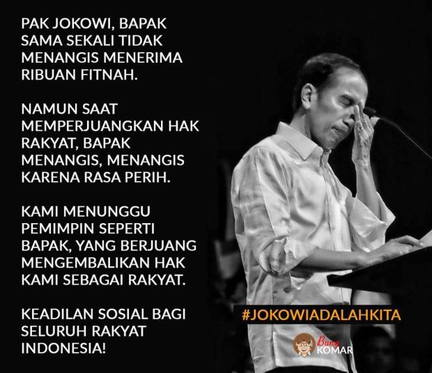 Jokowi Menangis