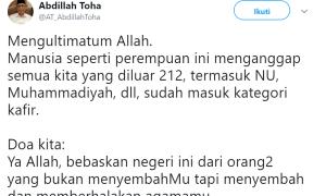Puisi Neno di Munajat 212 Lecehkan Nabi dan Umat Islam