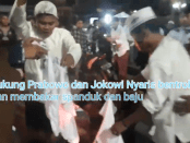 Video Pembakaran Kaos dan Spanduk Massa Pro Prabowo di Sampang
