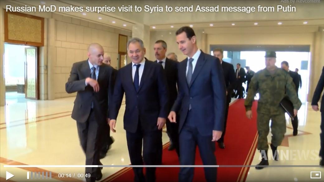 Menhan Rusia Mendadak ke Suriah untuk Sampaikan Pesan Putin ke Assad
