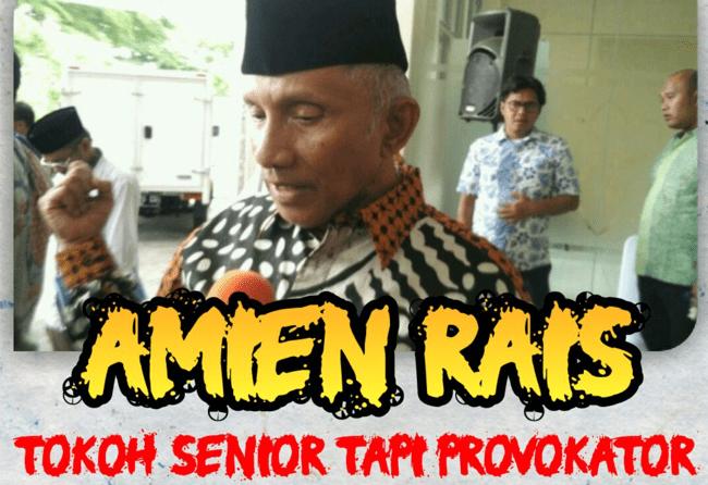 Amien Rais dan kelompok Radikal Jerumuskan Prabowo ke Jurang Kehancuran