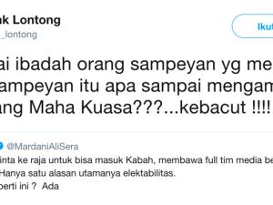 KEBACUT! Cak Lontong 'Semprot' Mardani Ali Sera Soal Umroh Jokowi