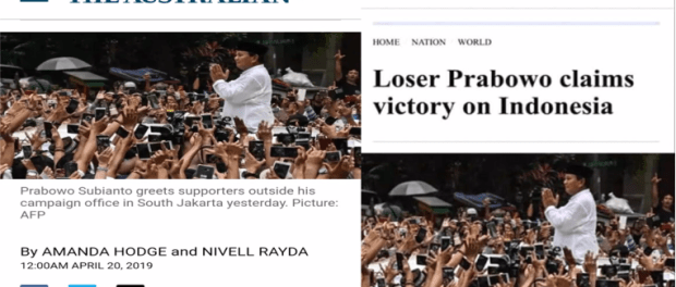 Loser Prabowo Claims Victory on Indonesia