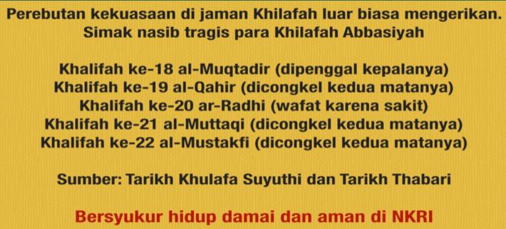 Sejarah Berdarah Khilafah