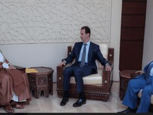 Menlu Oman dan Bashar Assad, Suriah