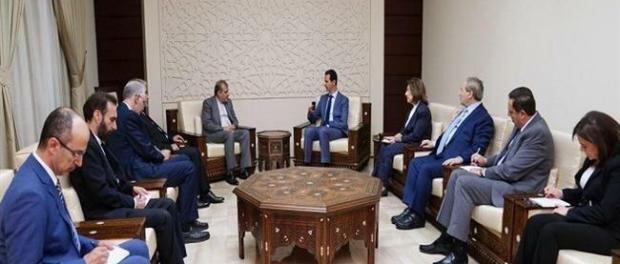 Pertemuan Bashar Assad dan Utusan Iran