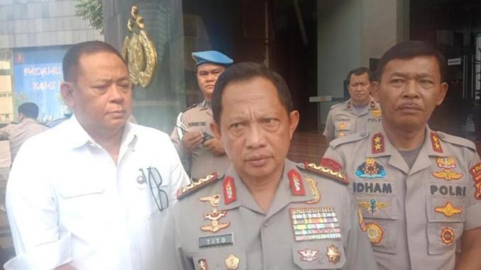 Jenderal Tito Karnavian dan Kapolda Jatim