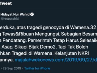 Hidayat Nur Wahid, Wamena, Papua, Genosida