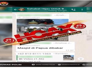 Hoaks Masjid Papua Dibakar