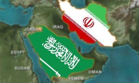 Bendera Saudi dan Iran