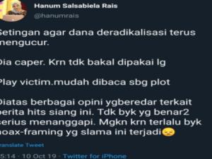 Hanum Rais, Wiranto, Kriminal