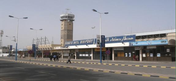 Perang Yaman, Bandara Sana'a, Yaman
