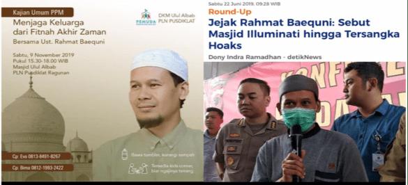 Yusuf Muhammad: Masjid BUMN Undang Rahmat Baequni Penceramah Pro-ISIS, HTI dan Penyebar Hoaks