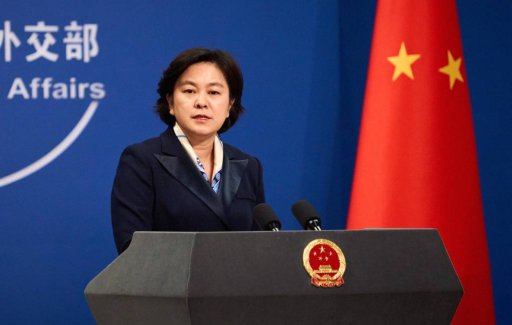 Chinese Foreign Ministry Spokesperson Hua Chunying holds briefing