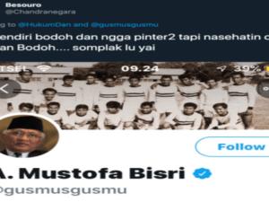 "Kurang Ajar, Akun Twitter Besuoro Sebut Gus Mus ""Somplak Lu Yai"""