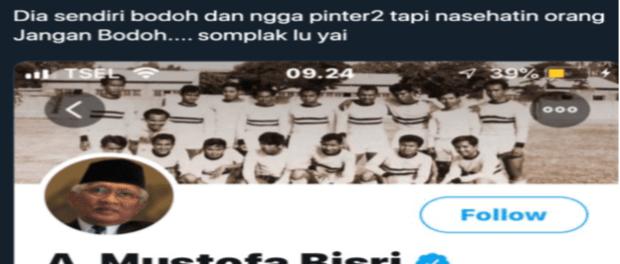 Kurang Ajar, Akun Twitter Besuoro Sebut Gus Mus