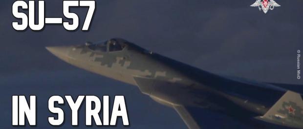 Jet Tempur Siluman Su-57 Rusia Beraksi di Suriah: VIDEO