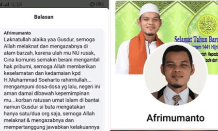 Lagi! Akun Facebook Afrimumanto Hina Gus Dur