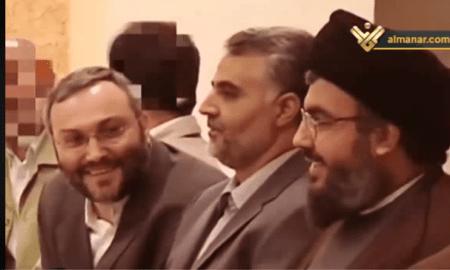 Qassem Soleimani, Imad Muqhniyeh dan Hassan Nasrallah dalam satu meja makan