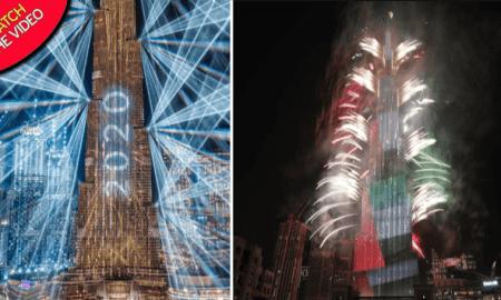 Pertunjukan Kembang Api Memukau Jelang Pergantian Tahun di Dubai : Video