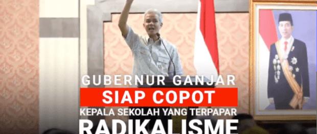 Layak Ditiru, Pakta Integritas Setia Kepada Pancasila Ganjar Pranowo Untuk Kepsek Se-Jateng